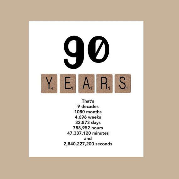 90th Birthday Card, Milestone Birthday Card, The Big 90, 1926 Birthday Card
