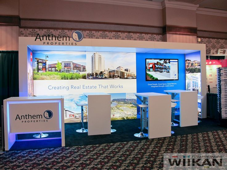 Anthem Properties - Custom trade-show booth, ISCS show, Whistler BC