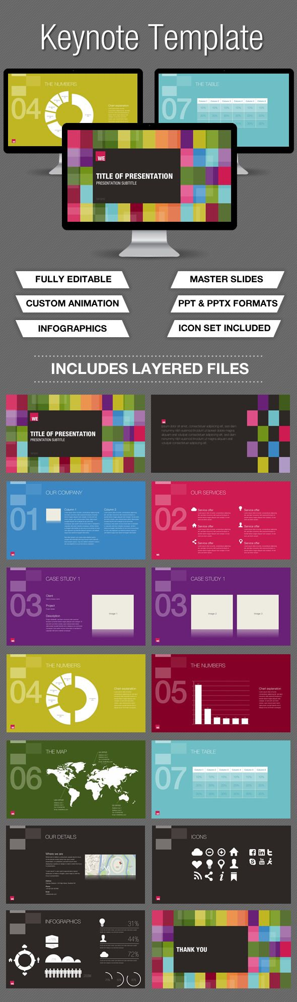 Colour Keynote Presentation - Keynote Templates Presentation Templates