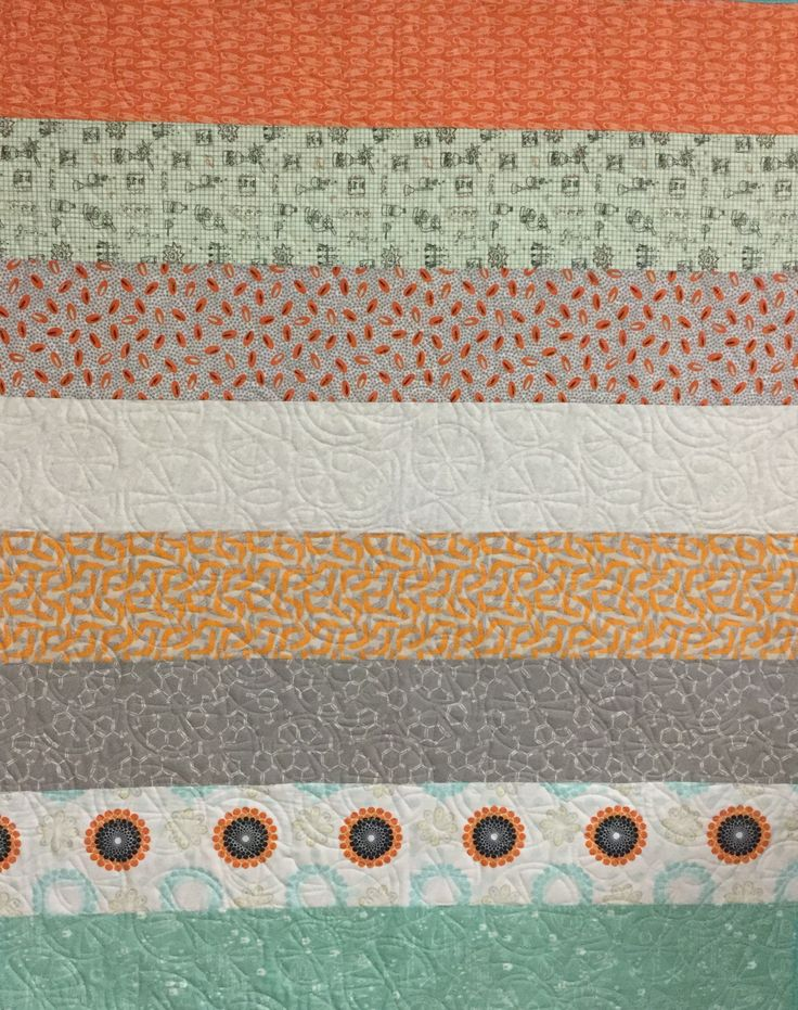 Citrus quilting design for a fun baby quilt