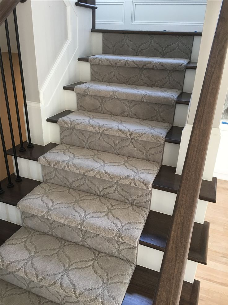Appreciation Dundee   By Shaw Stairs Stair Runner Patterned Carpet Hardwood  Staircase