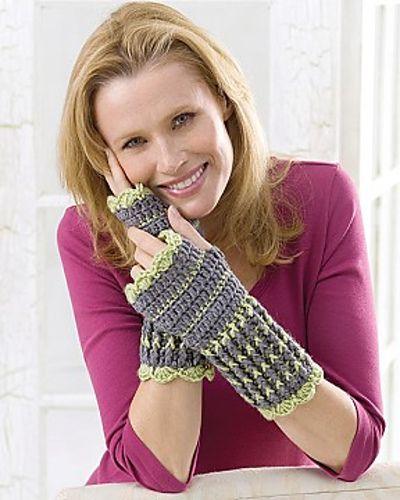 Ravelry: Winter Crochet Wristers pattern by Nazanin S. Fard