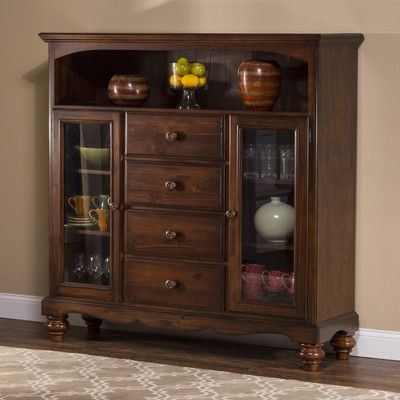Hillsdale Furniture Pine Island 4 Drawer Bakeru0027s Cabinet