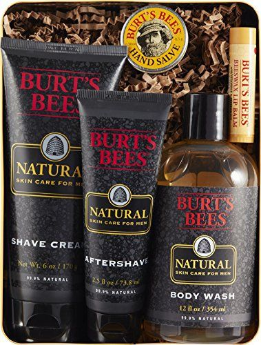 Natural skin care for men. Burt's Bees Men's Gift Set contains products formulated to refuel and invigorate dry and tired skin. This Burt's Bees Men's Kit comes in a Heritage Tin and includes Natural Skin Care for Men Shave Creme, Natural Skin Care for Men Aftershave, Natural Skin Care ... more details available at https://perfect-gifts.bestselleroutlets.com/gifts-for-holidays/beauty-personal-care/product-review-for-burts-bees-mens-gift-set-5-natural-products-in