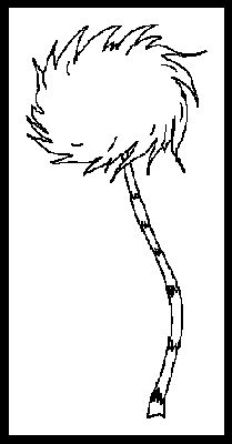 Simple truffula tree template Dr seuss coloring pages