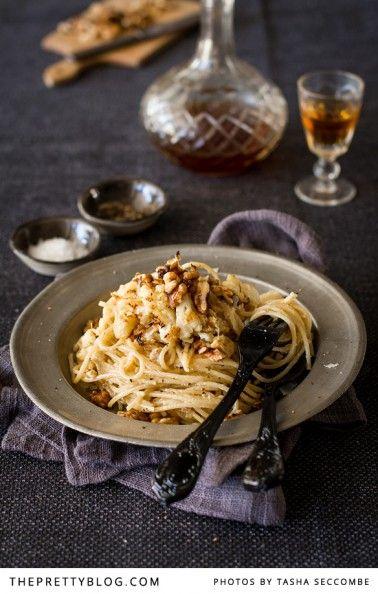 Spaghetti with Roasted Cauliflower {Recipe}