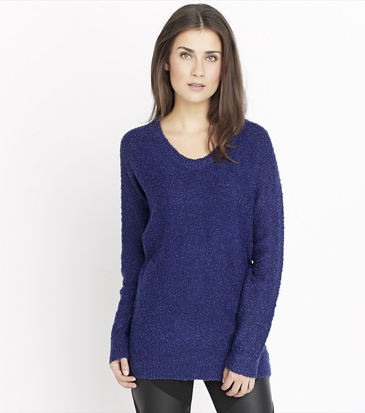 Meet the sweater you'll want to wear everyday and everywhere. It features a textured knit, high low hem and ultra-cozy fit that's hard to resist.
