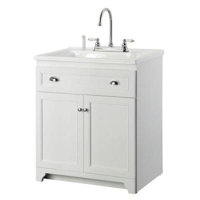 Foremost Keats 30 In Laundry Vanity In White And Premium