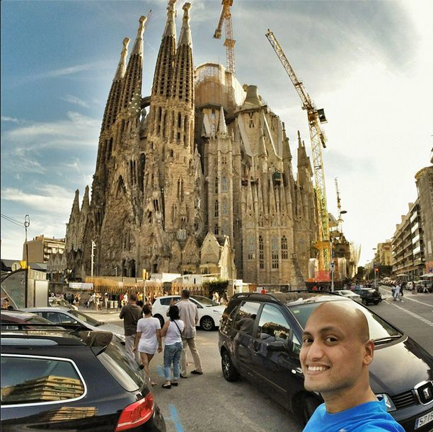 Presenting to you Antoni Gaudi's masterpiece, the Sagrada Familia. Nothing comes close to it in Barcelona. Its enormous in structure and the detailing is intricate