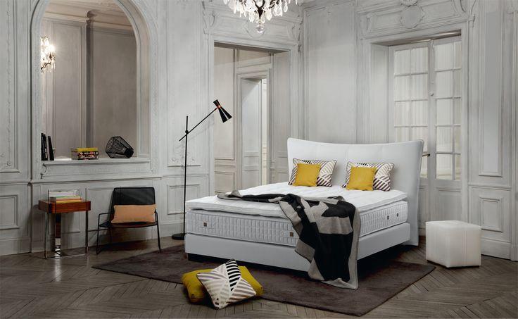 """Seit über 80 Jahren steht das Unternehmen #Treca_Interiors_Paris für Betten """"Made in France"""" – und für maßgeschneiderten Komfort. 💕 #Treca #Bett #Schlafkomfort #Wohndesign #Interior_Design #stella_blanc"""