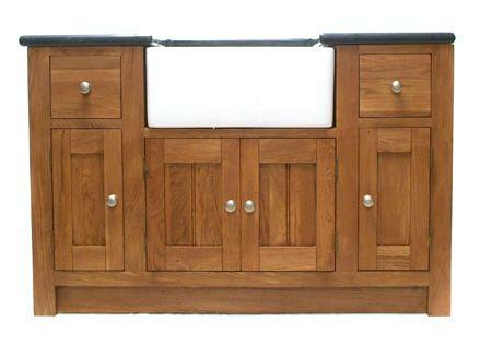 Garage Sink Unit : ... kitchen sink unit solid wood oak freestanding kitchen sink unit