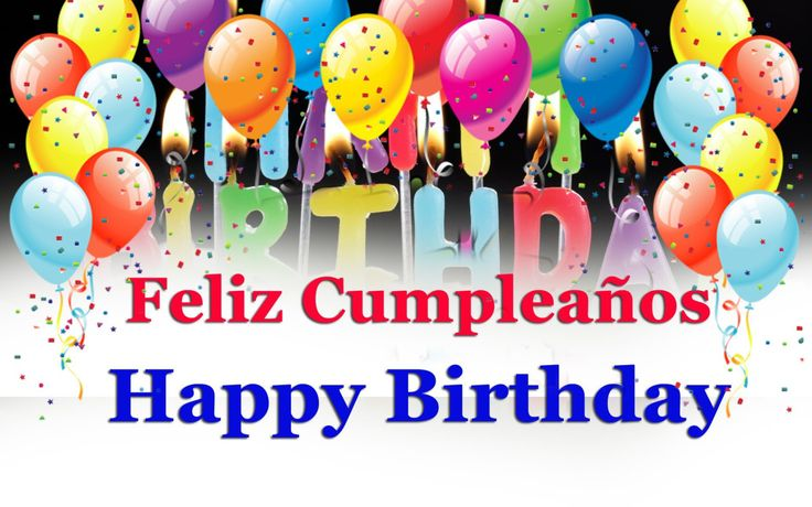Find out how to say happy birthday in Spanish and get more happy birthday wishes, congratulations, quotes, and expressions in Spanish and English language