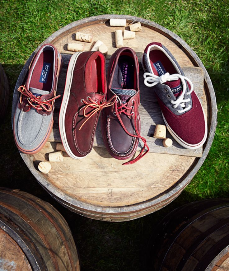 Suggest your guy pair these Sperry Top-Sider red accented boat shoes with his favorite pair of pants, and we promise he won't be sorry