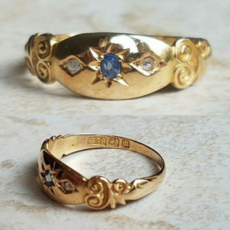 This gorgeous boat or gypsy ring has plenty of buttery 18ct gold on show and is in fantastic condition for her age. Do have a look at her.