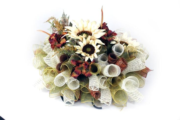 How to Make a Deco Mesh Gravestone Saddle. Visit the largest supplier of Deco Mesh and Floral Supplies in the Nation at www.cgpackaging.com