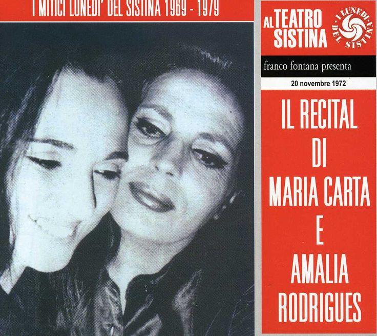 Maria & Rodrigues Amalia Carta - Il Recital Di Maria Carta E Amalia Rodriguez