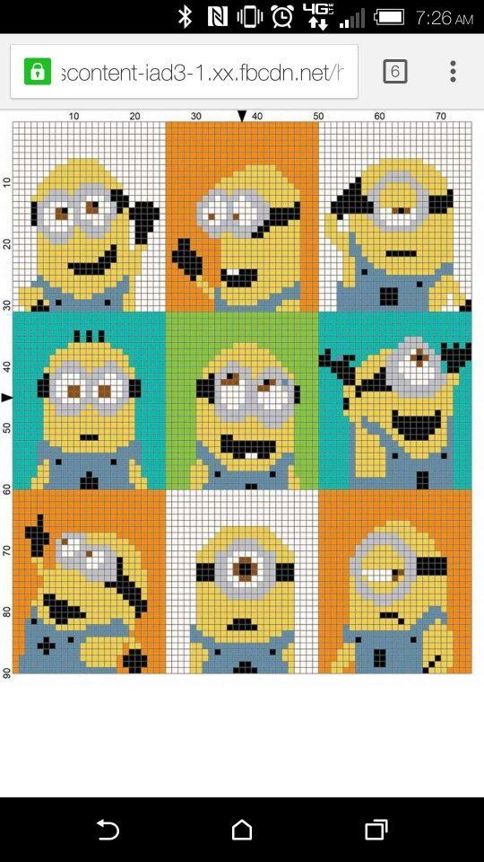 Minions-blanket Pixel pattern