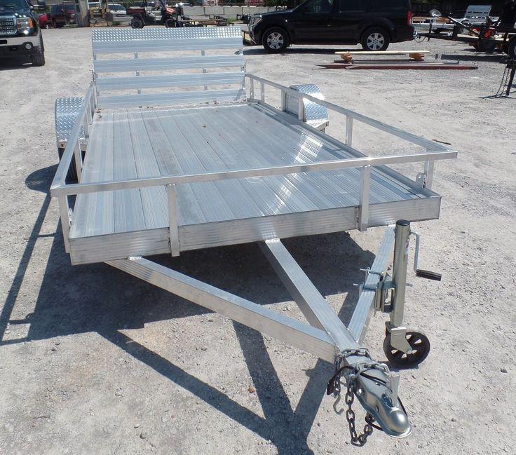 6'x14' All Aluminum Utility Trailer 3500 lb Axle Review - http://sleequipment.com/news/6x14-all-aluminum-utility-trailer-3500-lb-axle-review/