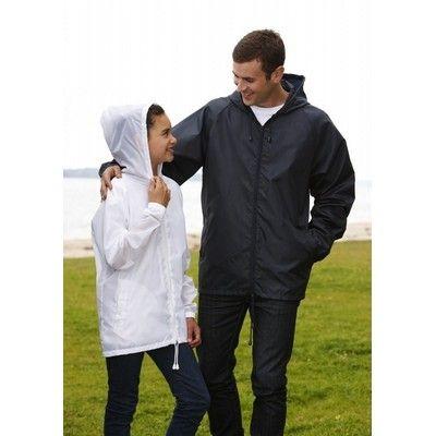 Zip Spray Jacket Min 25 - A 100% polyester hooded jacket with drawstring. http://www.promosxchange.com.au/spray-jacket/p-11154.html