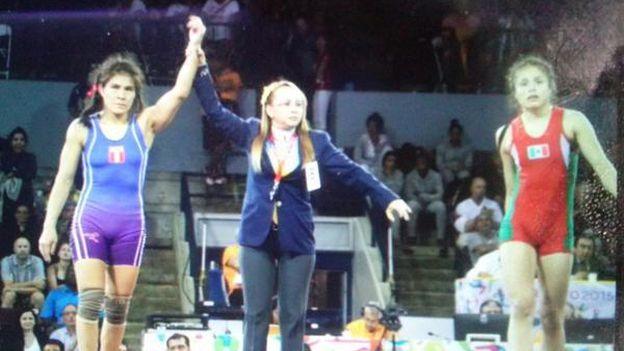 Juegos Panamericanos 2015: Yanet Sovero ganó medalla de bronce en lucha libre. July 17, 2015.