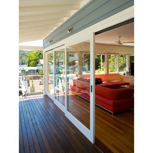 17 best ideas about exterior sliding doors on pinterest - Exterior glass panel french doors ...