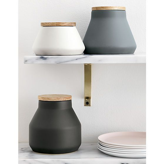 3-piece neutral canister set | CB2