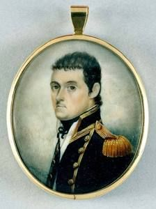 Miniature portrait of Matthew Flinders (1774-1814) who was the first man to circumnavigate Australia. His charts were so accurate that some are still in use to this day.