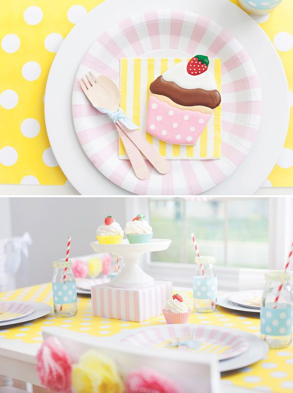 Sweet cupcake themed birthday party