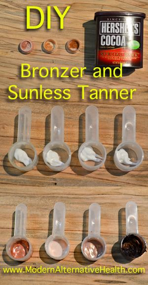 Don't know if I'd put cocoa on my ghostly skin but it might work for darker complexions. DIY Sunless Tanner and Bronzer