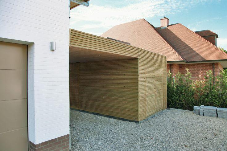 carport with storage room