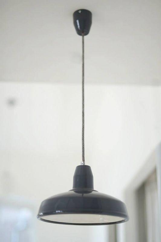 Tilka indusztriális kerámia lámpa szürke textilkábellel - Szürke közepes méret