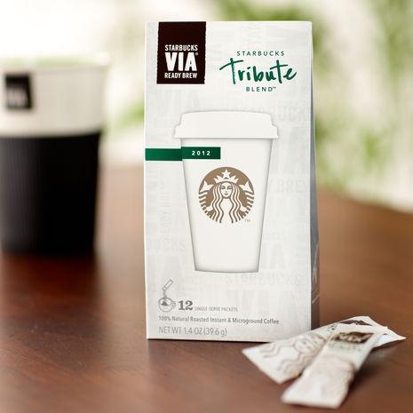 Starbucks VIA Tribute Blend™.