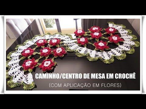 CAMINHO/ CENTRO DE MESA EM CROCHÊ - YouTube