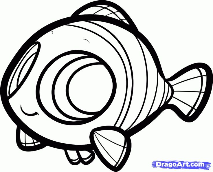 How to Draw Chibi Nemo, Finding Nemo, Step by Step, Disney Characters, Cartoons, Draw Cartoon Characters, FREE Online Drawing Tutorial, Adde...