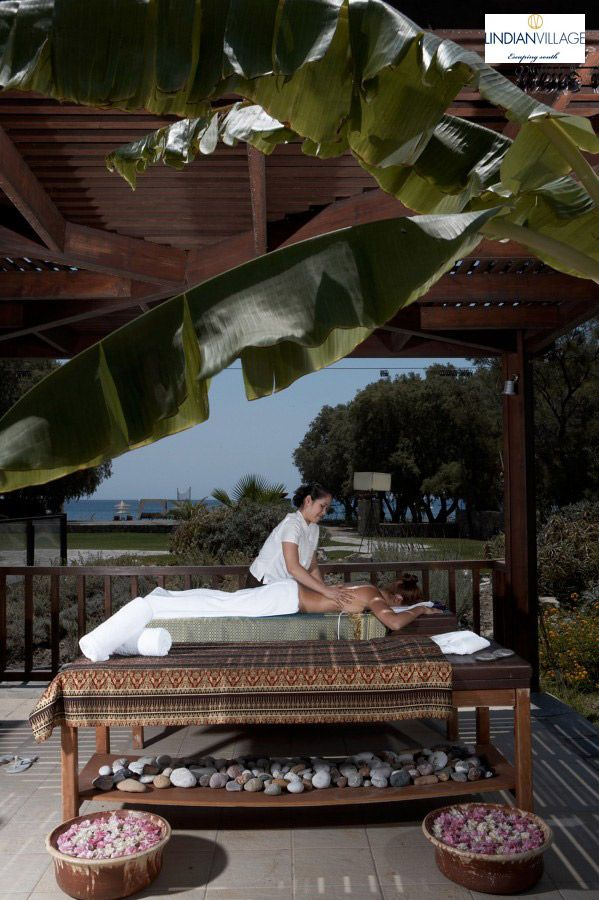 A transcendental journey to the senses, a mystical experience by the beach! #Spa More at lindianvillage.gr/