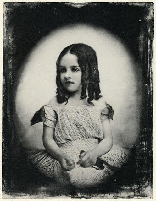 Unidentified Girl with Ringlets, circa 1850's: