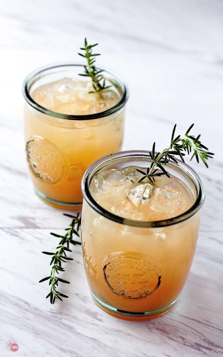Grapefruit Rosemary Rum Punch