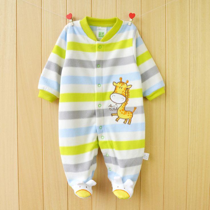 Baru 2015 Musim Gugur/Musim Dingin Bayi Rompers pakaian lengan panjang baju untuk bayi yang baru lahir Anak Gadis Kutub Bulu bayi Pakaian