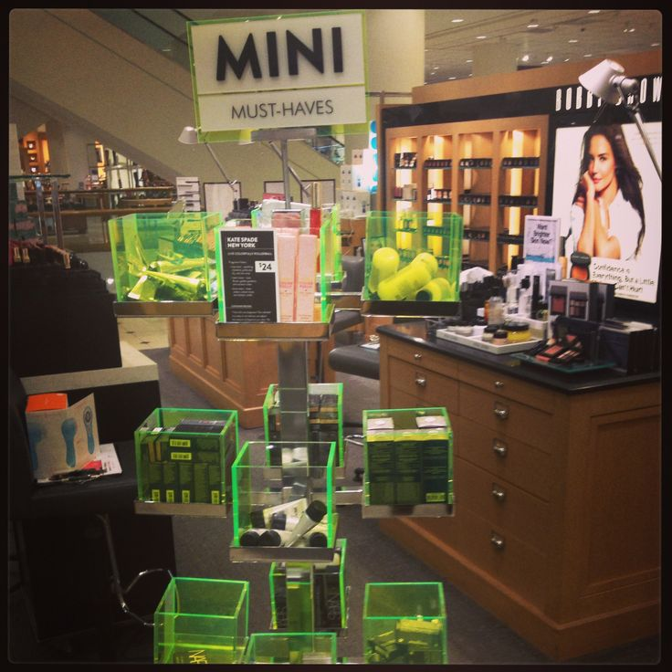 Watch out for the beauty must haves throughout the deparment!