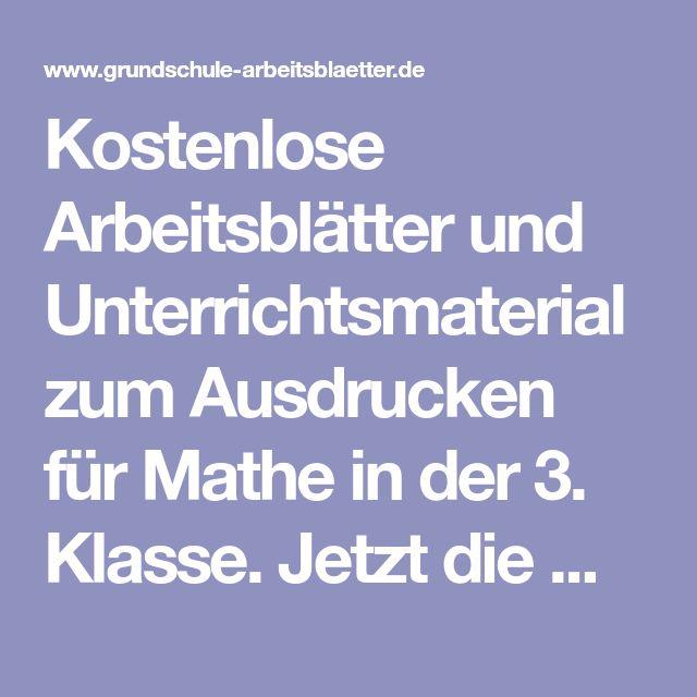 The 39 best Mathe 3. Klasse images on Pinterest | Primary School ...