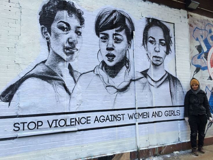 """thepeoplesrecord:This morning, I'm feeling super grateful for important revolutionary artists likeTatyana Fazlalizadeh, who just put up a new piece from her series """"Stop Telling Women to Smile"""" on 12th & Ave. C in New York City. Check out more of her work here."""