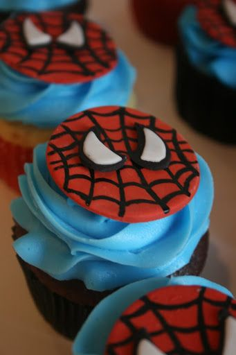 Spider man cake ideas spiderman cupcake toppers