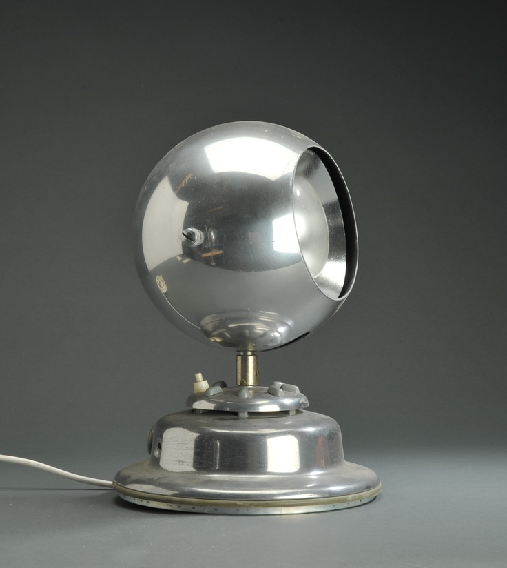 Parts of a Nilfisk vacuum made into a lamp.