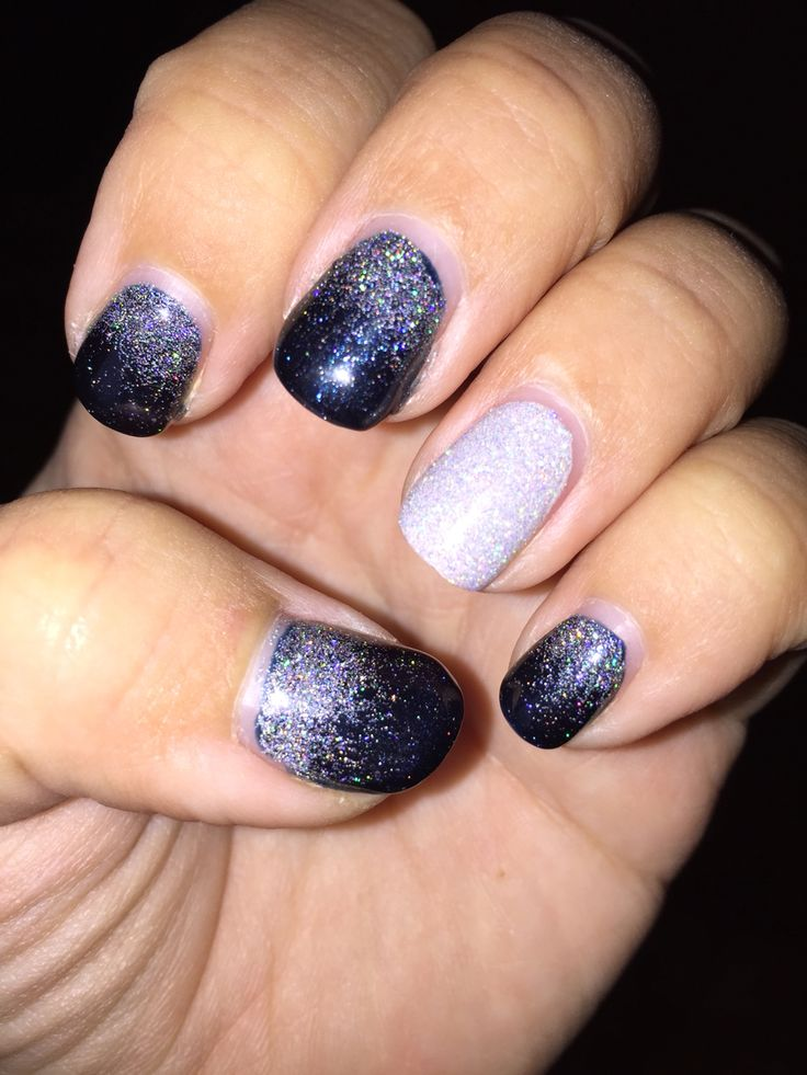 Cnd winter snow shellac midnight swim with disco ball for A david anthony salon