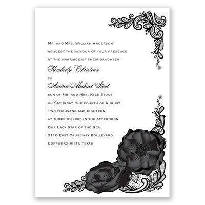Lasting Love - Wedding Invitation, Roses, Lace, Tattoo, Floral at Invitations By David's Bridal