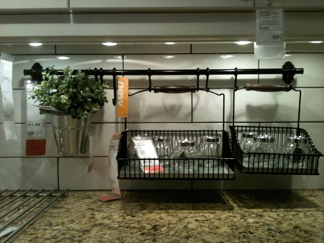 Ikea Fintorp Baskets...there Is Also A Dish Drain Rack That Goes With