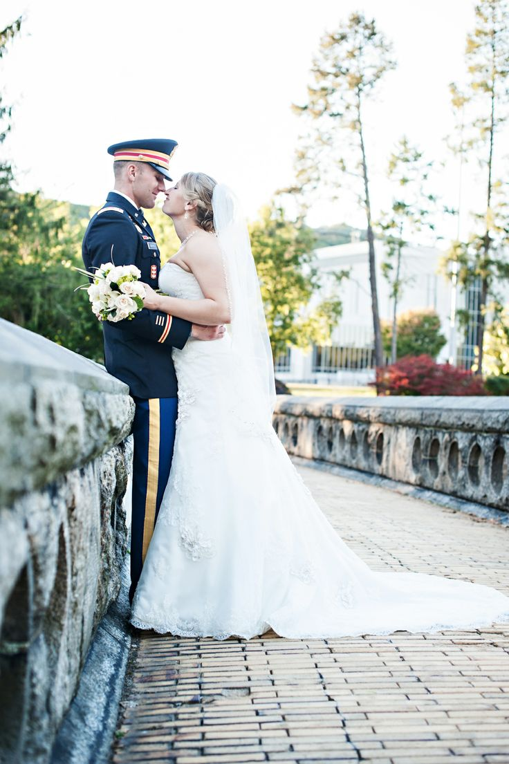 West Point Wedding - blue and gray