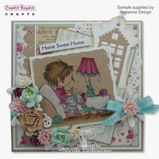Marianne Design Clear Stamp Don & Daisy - Daisy Knitting DDS3316 < Shop | Cuddly Buddly Crafts