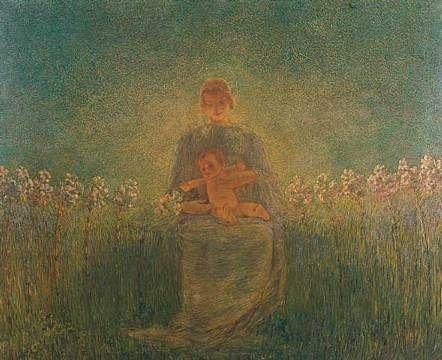 Madonna dei Gigli, 1893-94 - Gaetano Previati