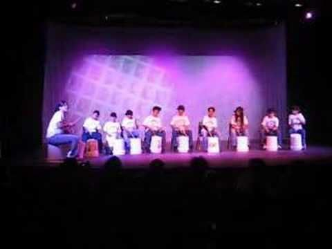 Crystal Vargas' 5th Grade Percussion Ensemble - Would be awesome to start up something like this for interested Upper Primary students. I have seen drumming mini-lessons with those waterbottles (large plastic), but hadn't seen anyone continue into a program.